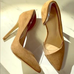 New - Tan Suede stiletto heels size 5.5